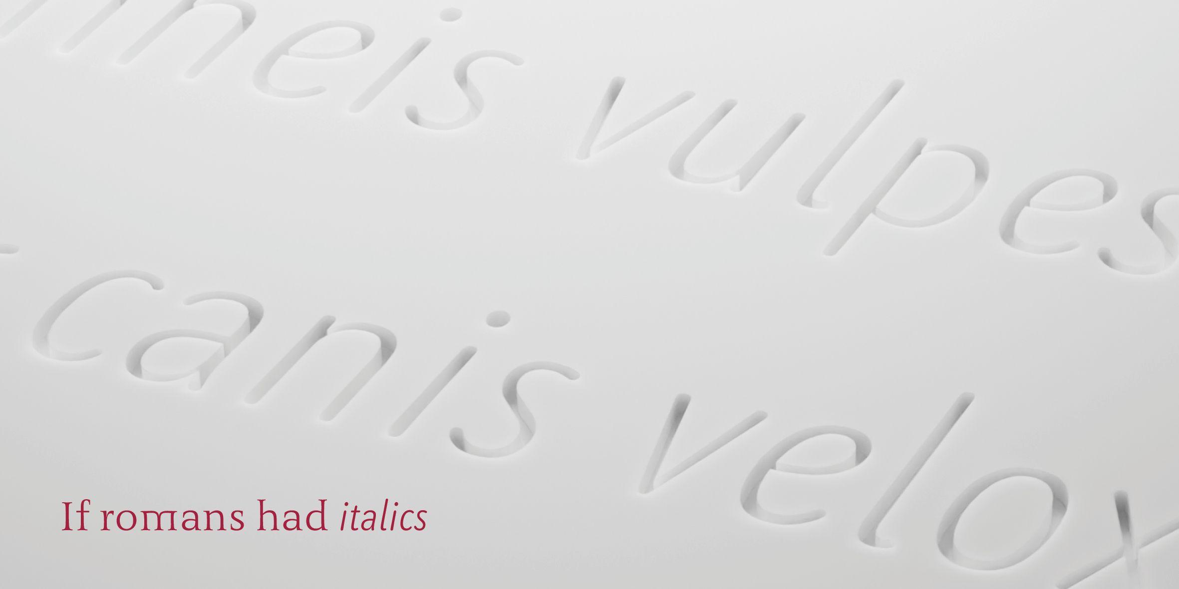 3D-Rendering zeigt die Benedikt Kursiv, eingraviert in eine wachsartige, weiße Oberfläche