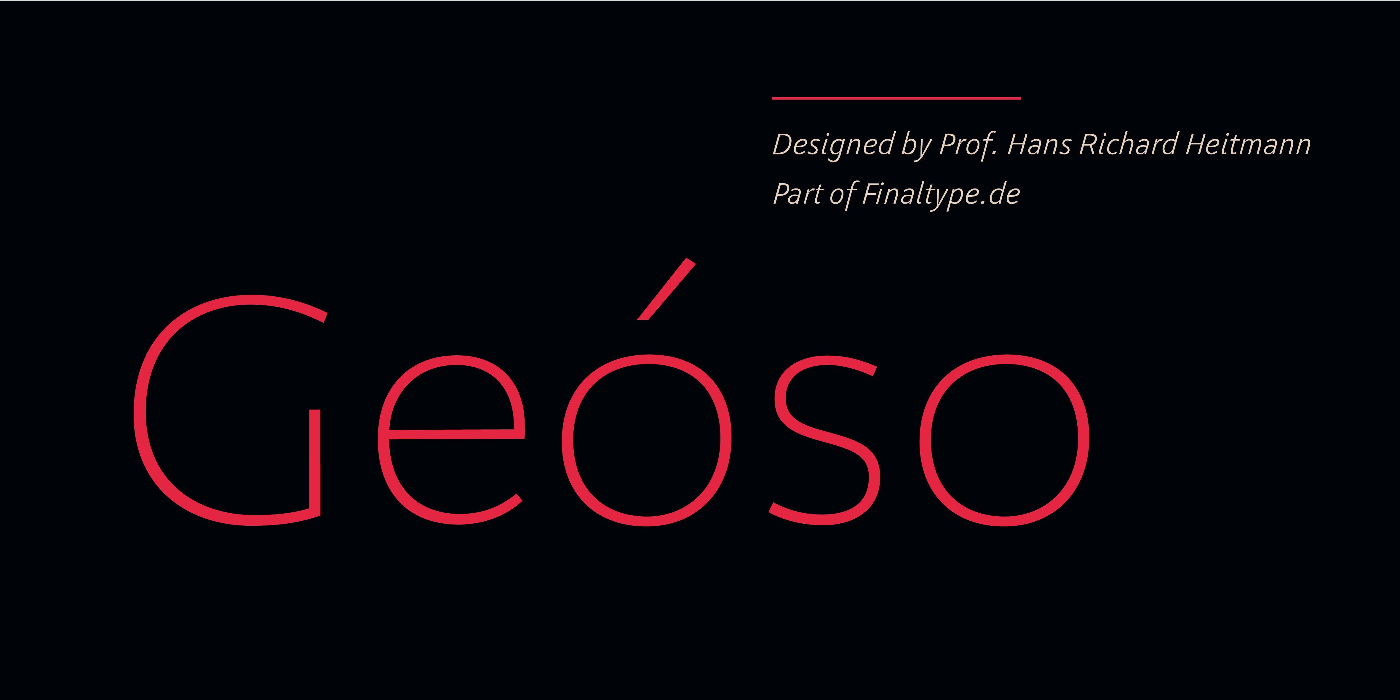 Poster: Geóso designed by Prof. Hans Richard Heitmann