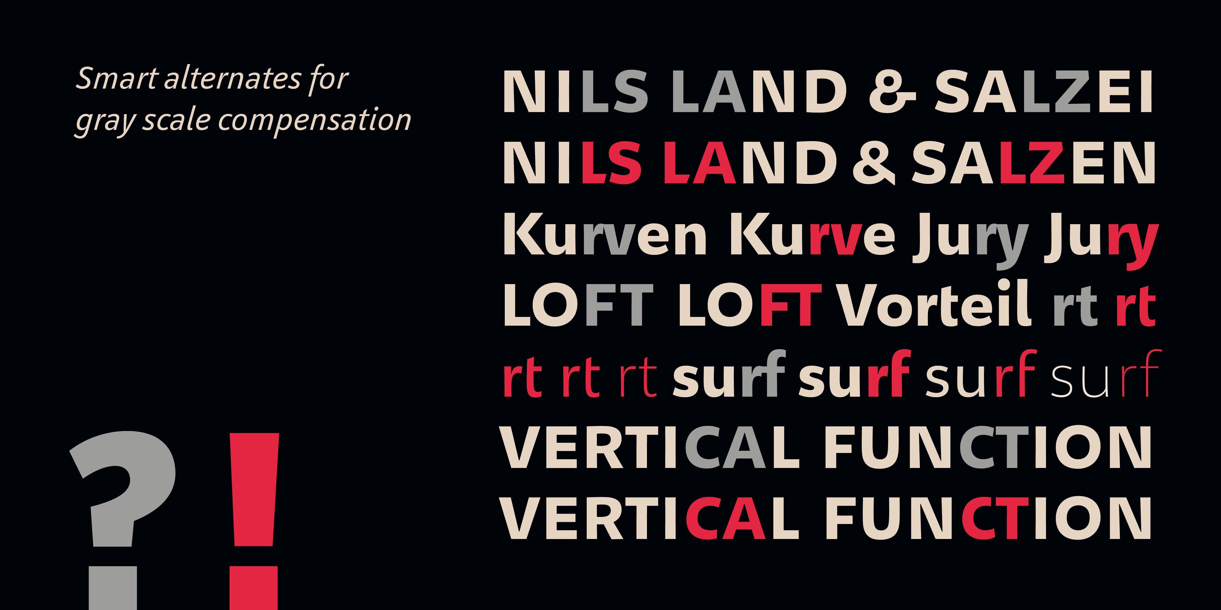 Poster: Alternativbuchstaben zum Grauwertausgleich