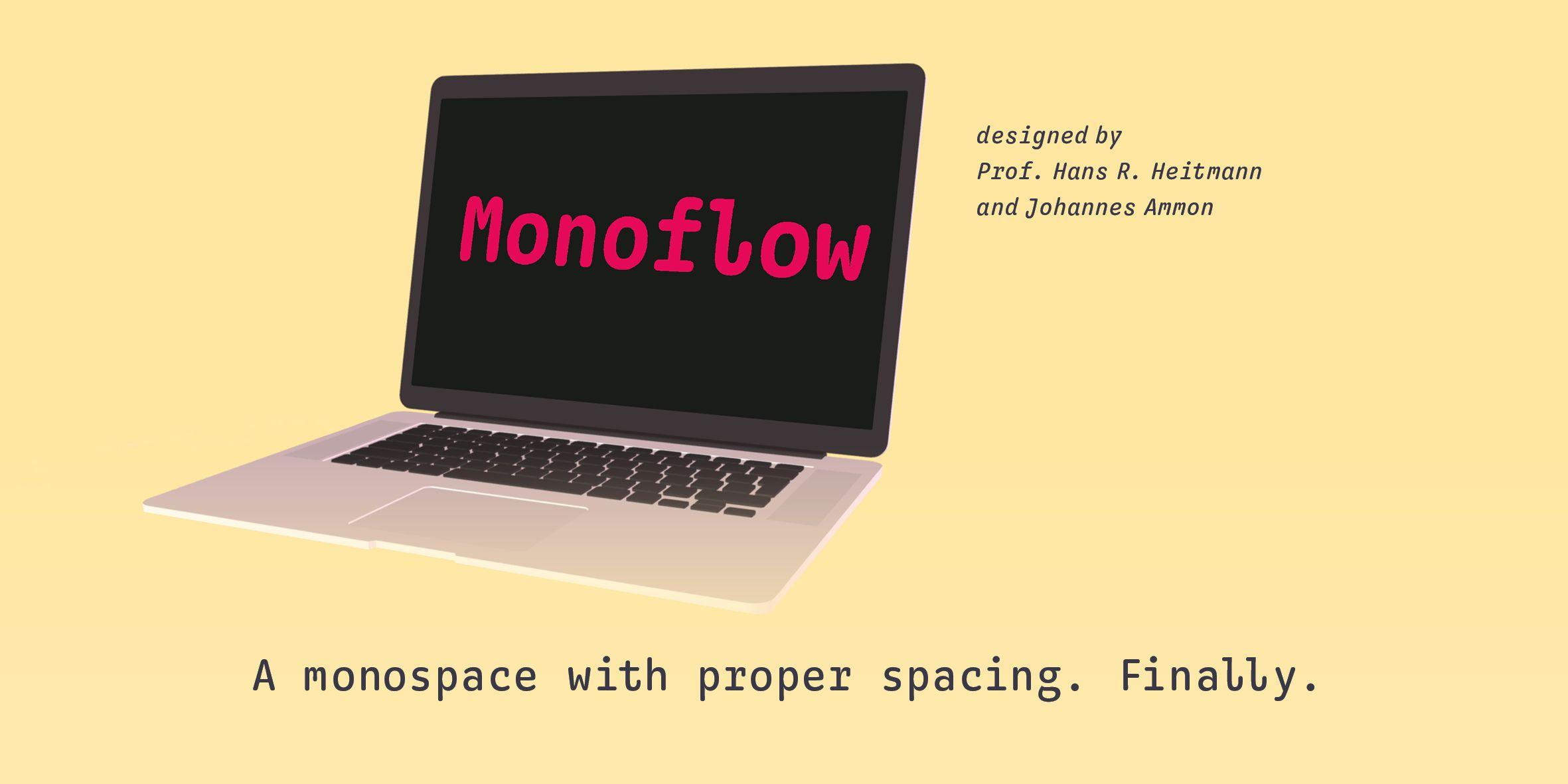 Monoflow Poster: Deckblatt mit Illustration und Claim: