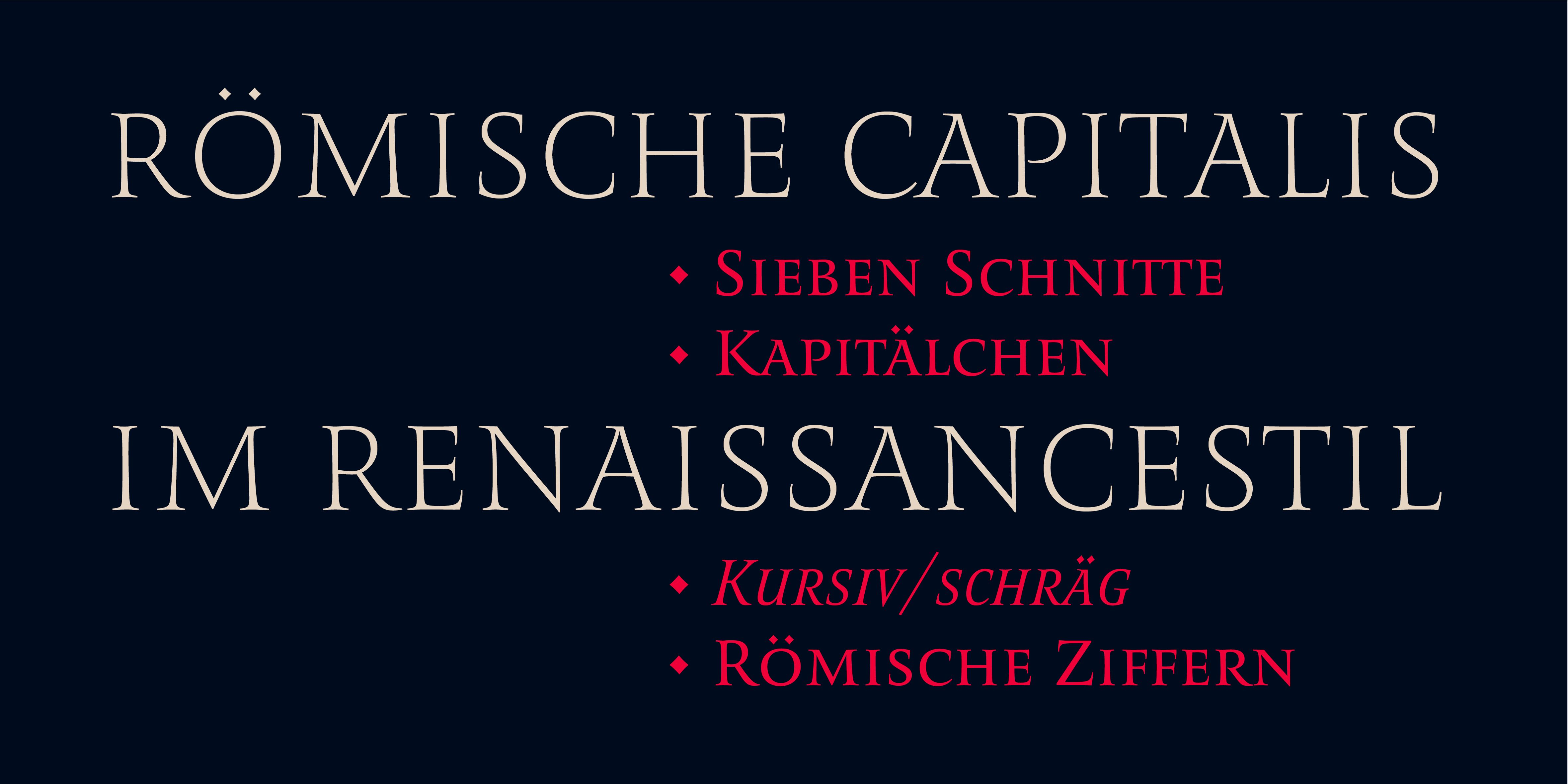 Poster: Römische Capitalis im Renaissancestil
