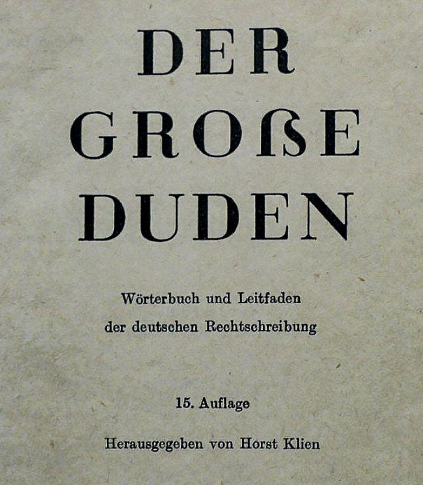 Der große Duden, 15th edition, featuring a capital sharp s